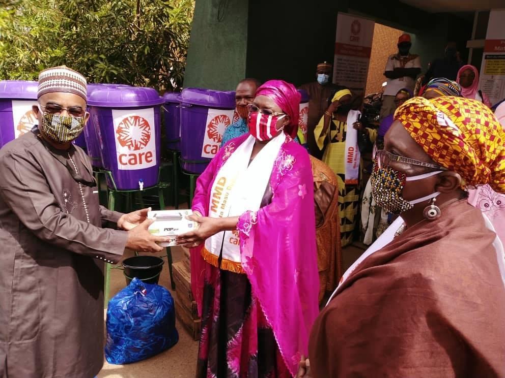cérémonie officielle de remise de Don du partenaire Care International dans le cadre de la riposte contre la pandémie covid-19
