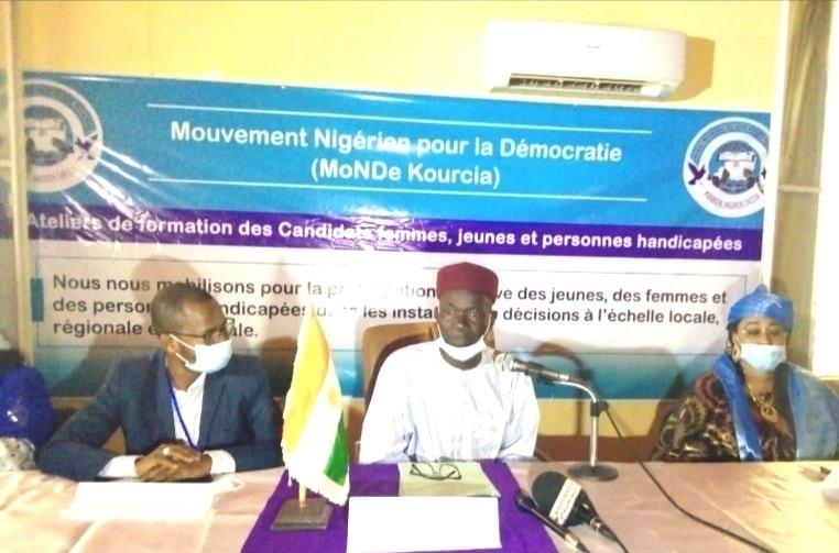 Cérémonie de lancement des ateliers de formation des candidats jeunes, femmes et personnes handicapées membres du MoNDe Kourcia